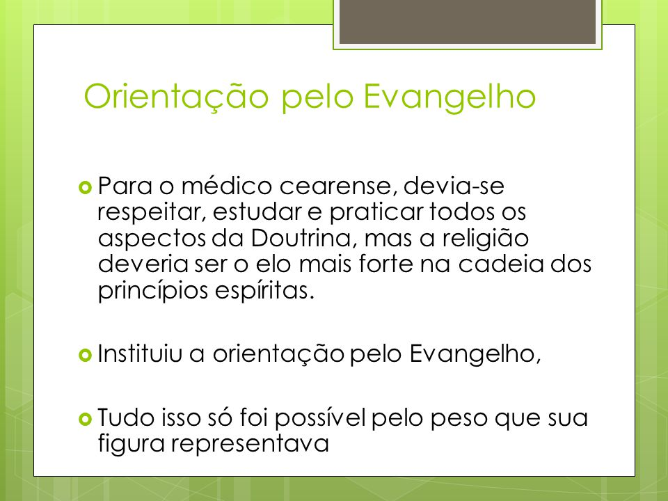 Orientação pelo Evangelho