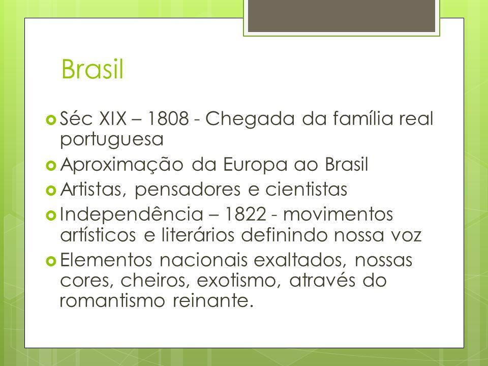 Brasil Séc XIX – 1808 - Chegada da família real portuguesa