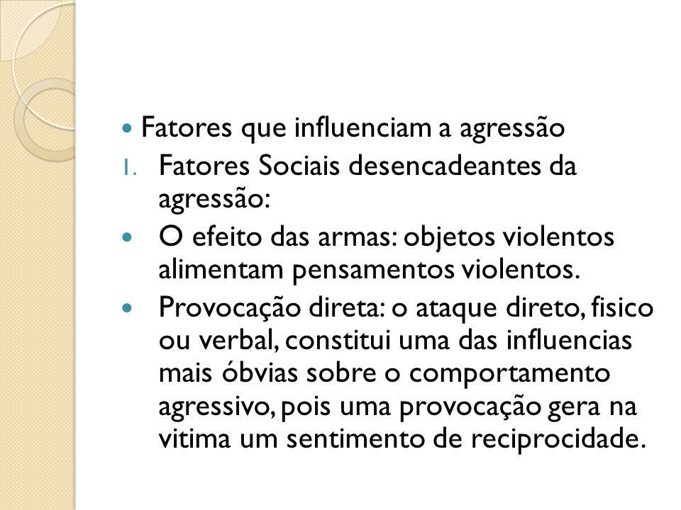 Fatores que influenciam a agressão