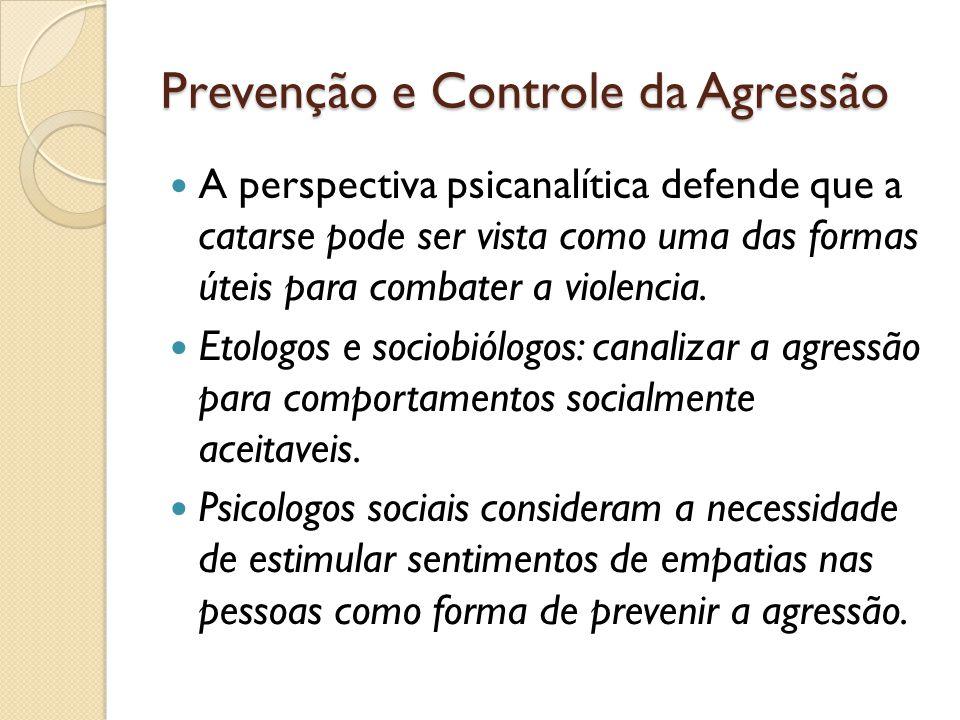 Prevenção e Controle da Agressão