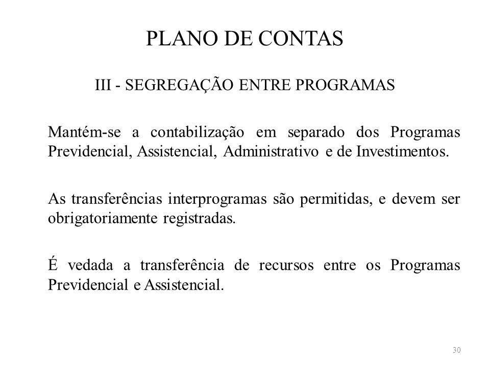 III - SEGREGAÇÃO ENTRE PROGRAMAS