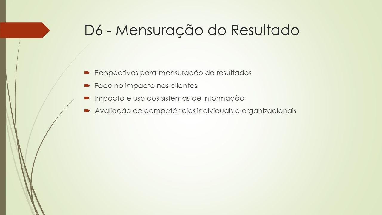 D6 - Mensuração do Resultado