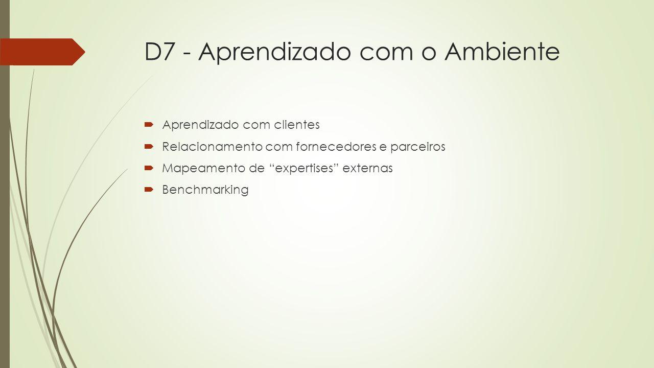 D7 - Aprendizado com o Ambiente