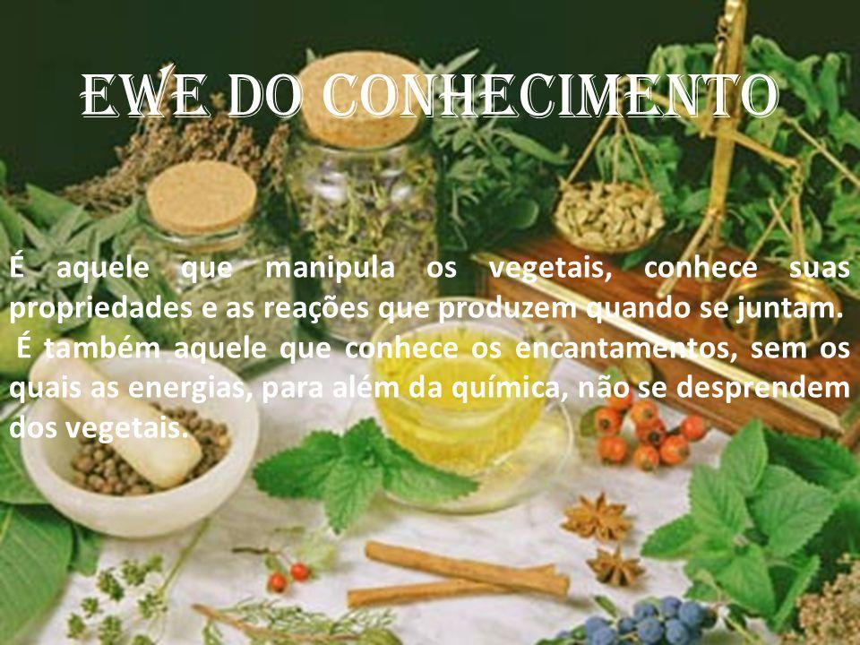 EWE DO CONHECIMENTO É aquele que manipula os vegetais, conhece suas propriedades e as reações que produzem quando se juntam.