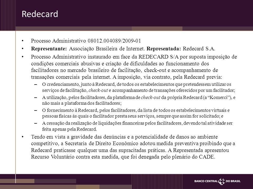 Redecard Processo Administrativo 08012.004089/2009-01