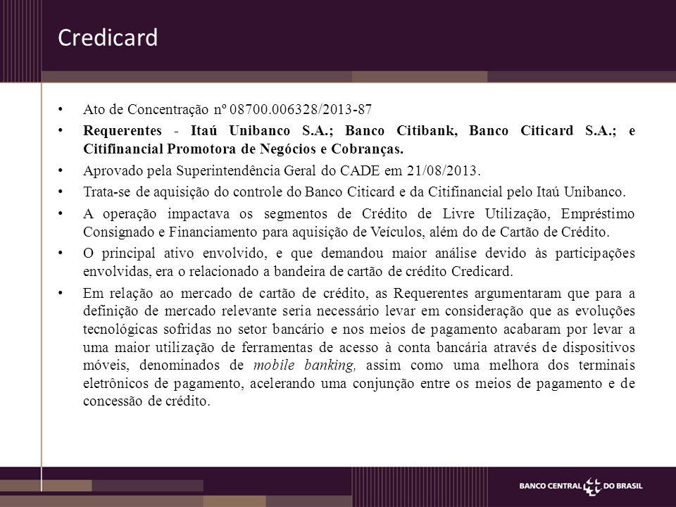 Credicard Ato de Concentração nº 08700.006328/2013-87