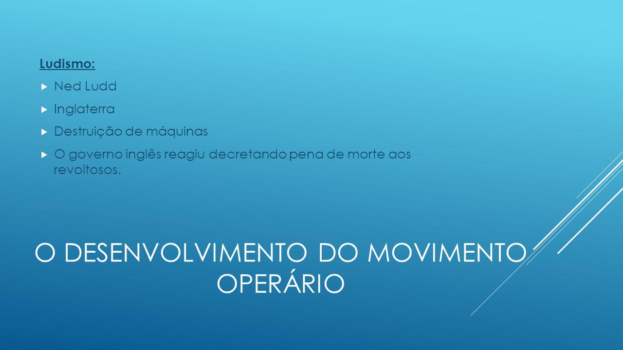 O desenvolvimento do movimento operário