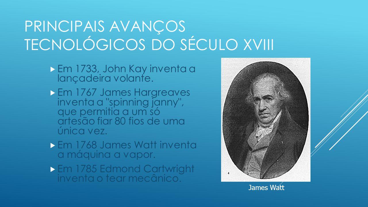 Principais avanços tecnológicos do século XVIII