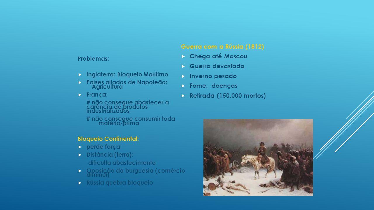 Guerra com a Rússia (1812) Chega até Moscou Guerra devastada