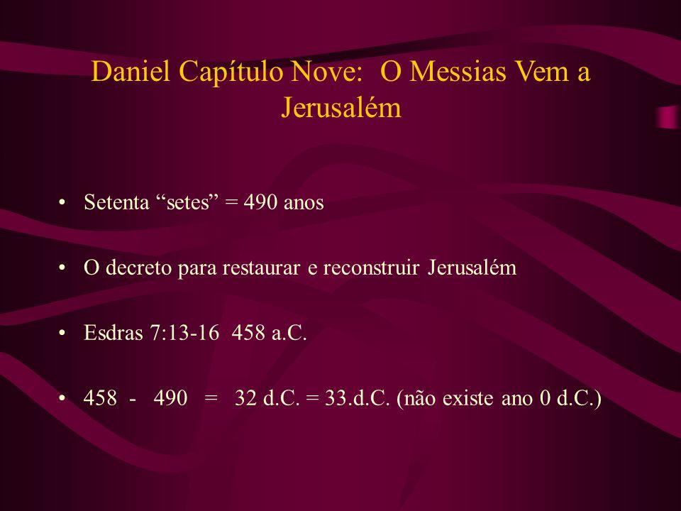 Daniel Capítulo Nove: O Messias Vem a Jerusalém