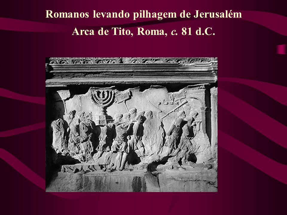 Romanos levando pilhagem de Jerusalém