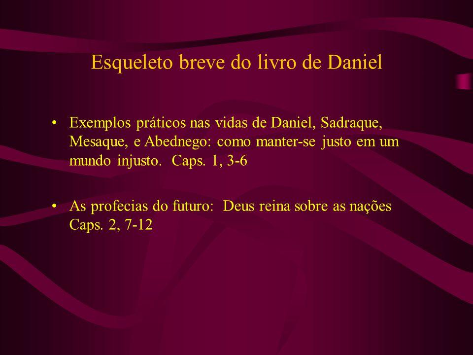 Esqueleto breve do livro de Daniel