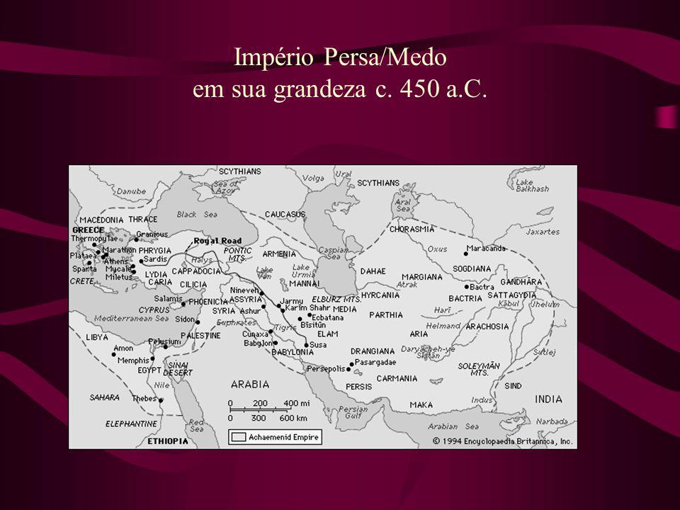 Império Persa/Medo em sua grandeza c. 450 a.C.
