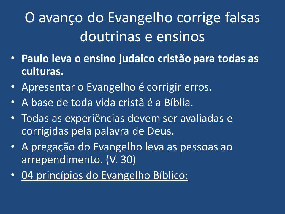 O avanço do Evangelho corrige falsas doutrinas e ensinos