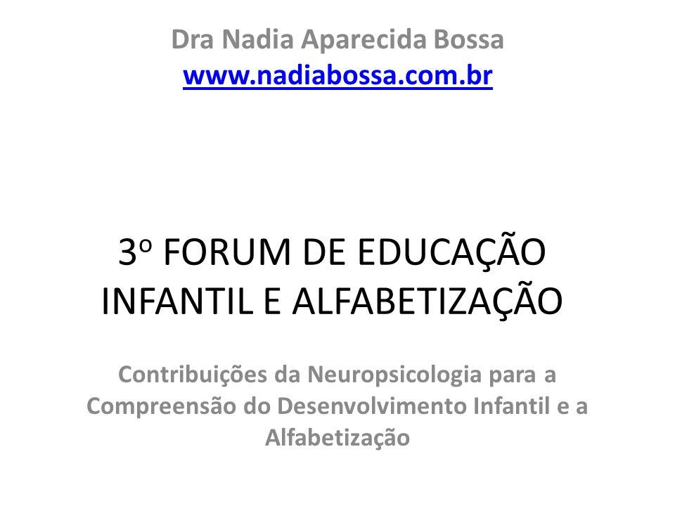 3o FORUM DE EDUCAÇÃO INFANTIL E ALFABETIZAÇÃO