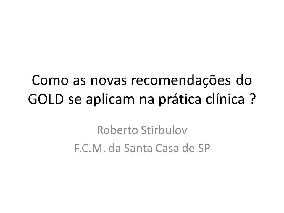 Como as novas recomendações do GOLD se aplicam na prática clínica