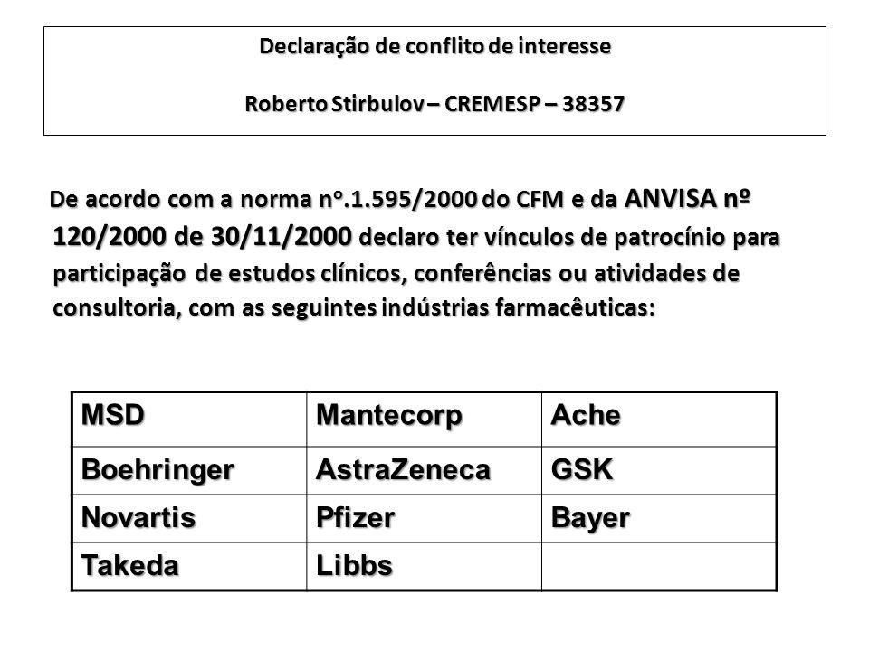 MSD Mantecorp Ache Boehringer AstraZeneca GSK Novartis Pfizer Bayer