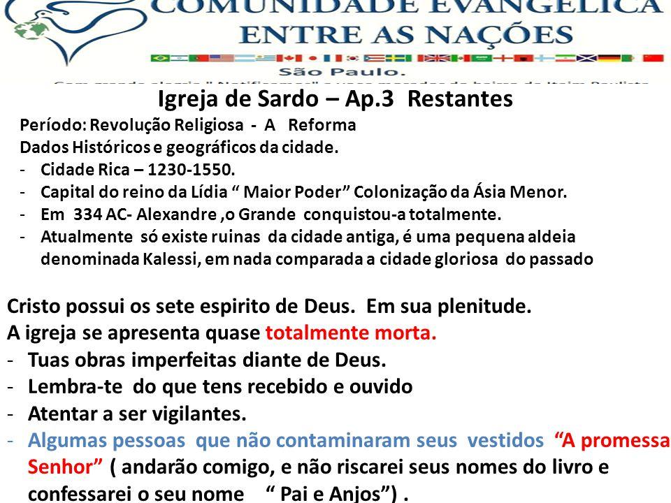 Igreja de Sardo – Ap.3 Restantes