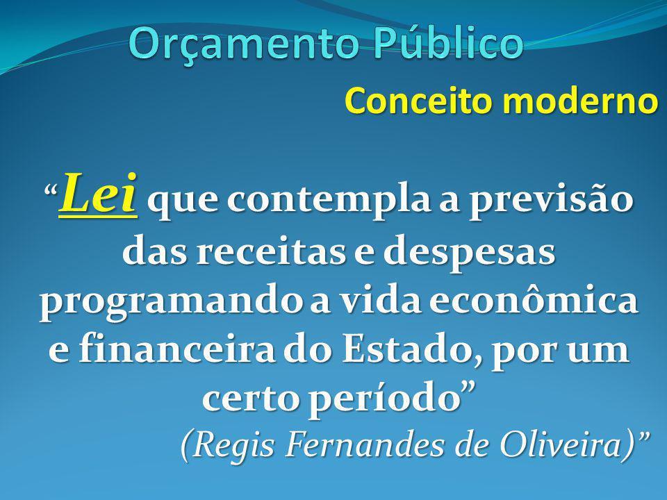 Orçamento Público Conceito moderno