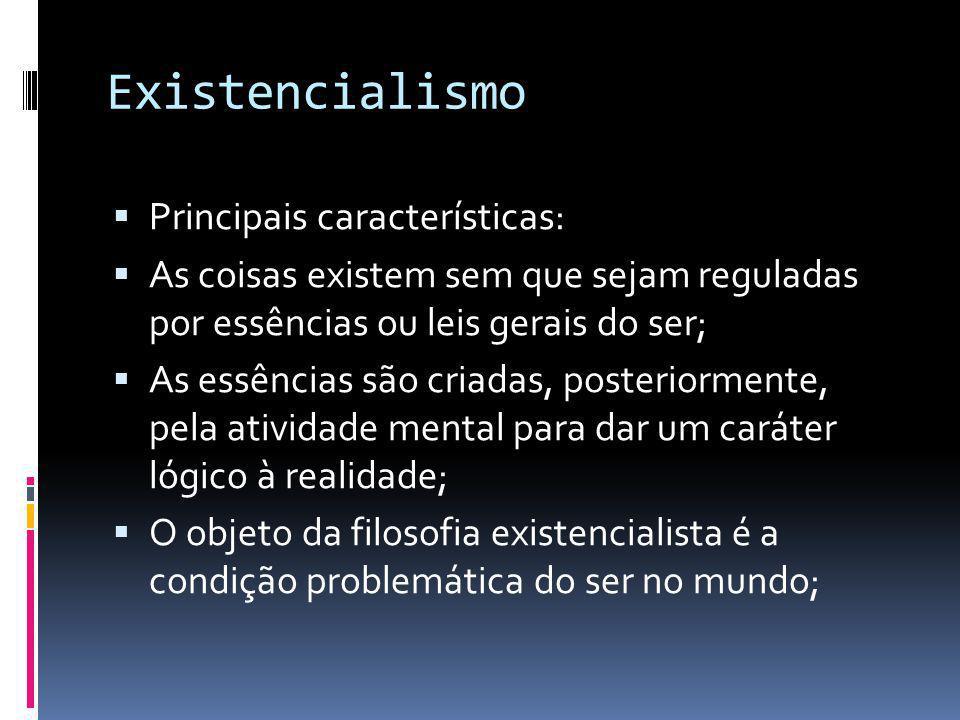 Existencialismo Principais características: