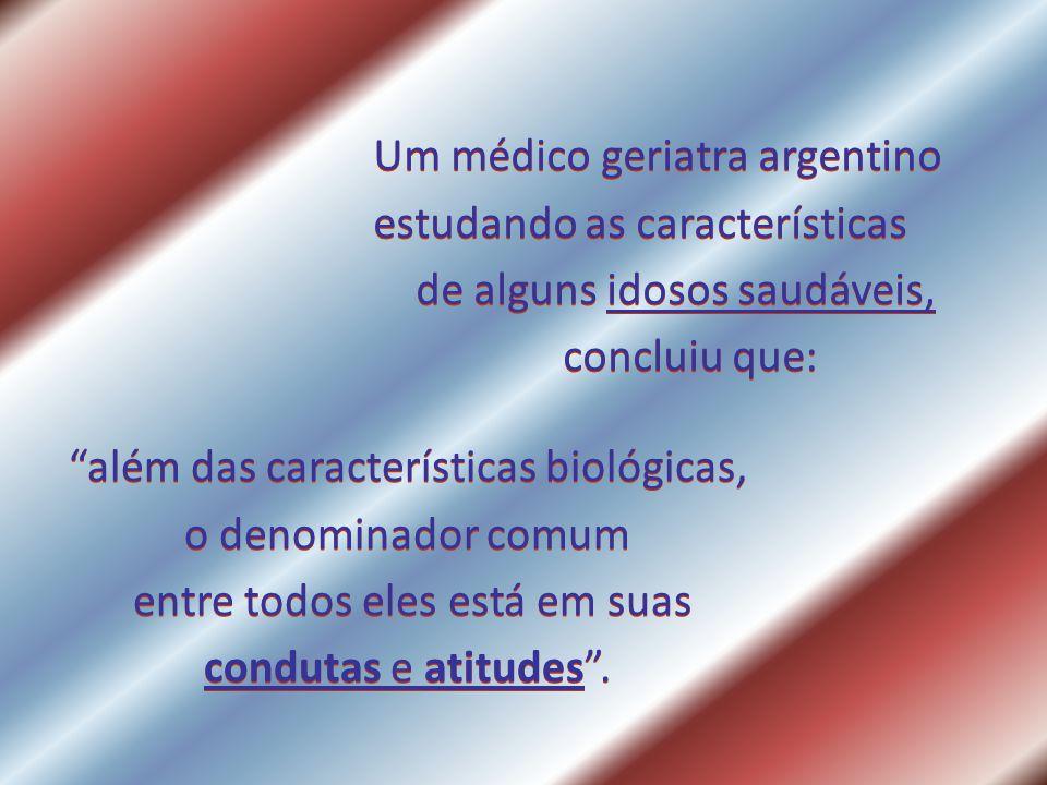 Um médico geriatra argentino estudando as características