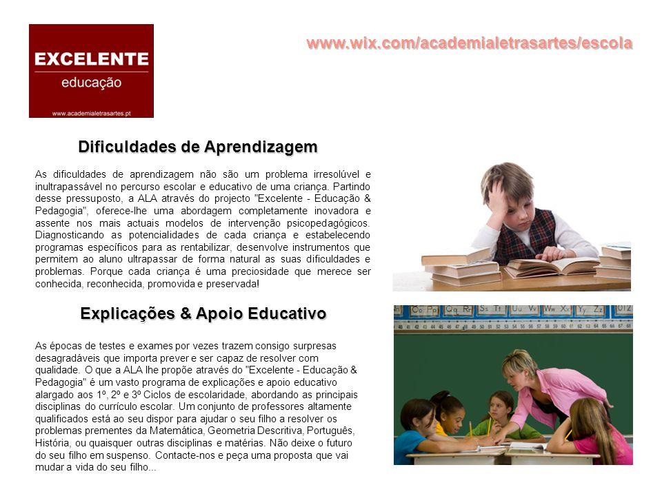 Dificuldades de Aprendizagem Explicações & Apoio Educativo