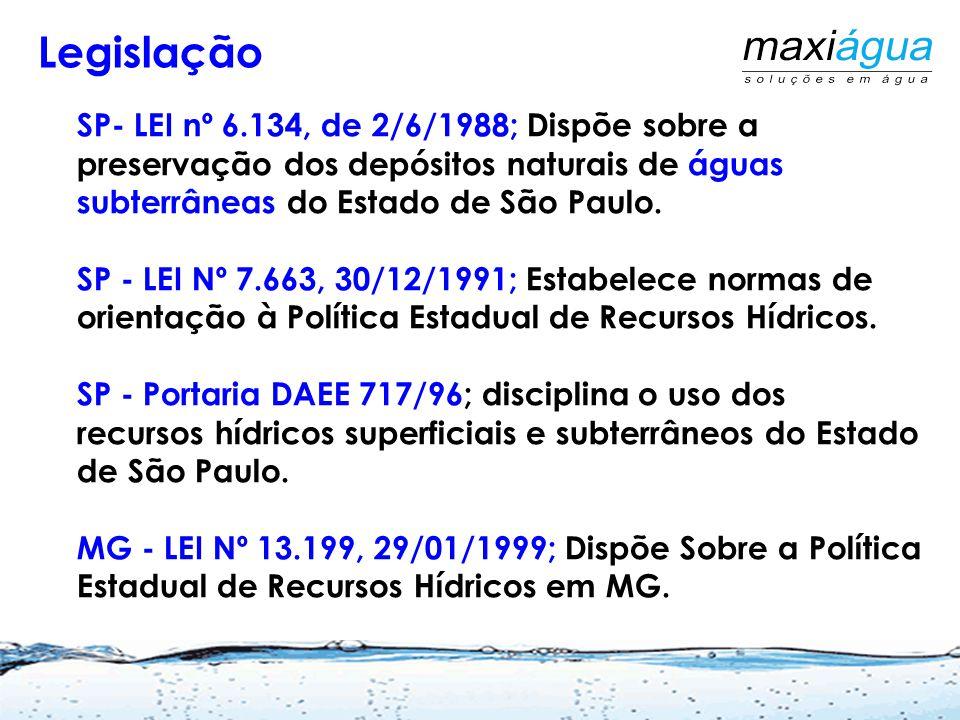 Legislação SP- LEI nº 6.134, de 2/6/1988; Dispõe sobre a preservação dos depósitos naturais de águas subterrâneas do Estado de São Paulo.