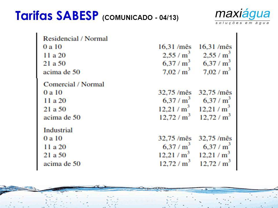 Tarifas SABESP (COMUNICADO - 04/13)