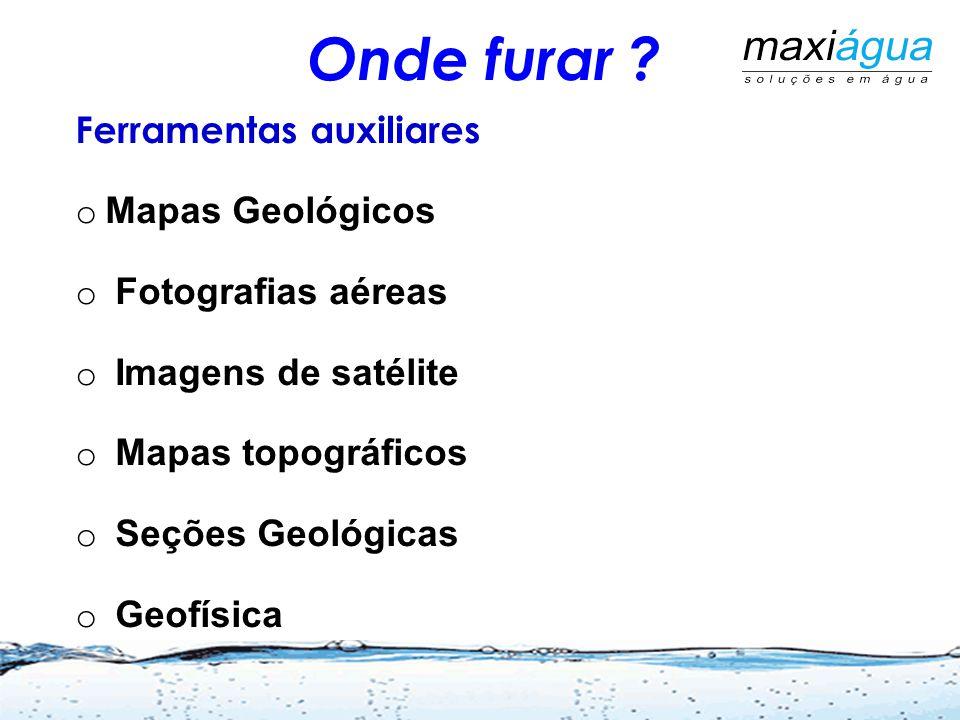Onde furar Ferramentas auxiliares Mapas Geológicos
