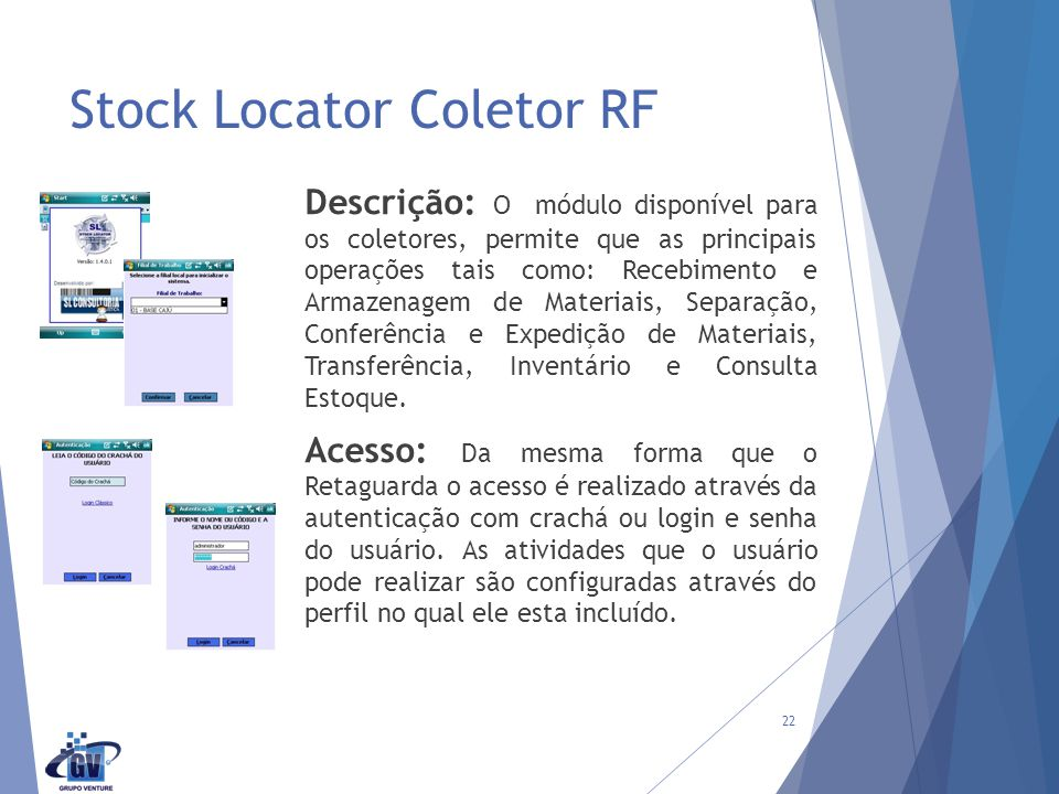 Stock Locator Coletor RF