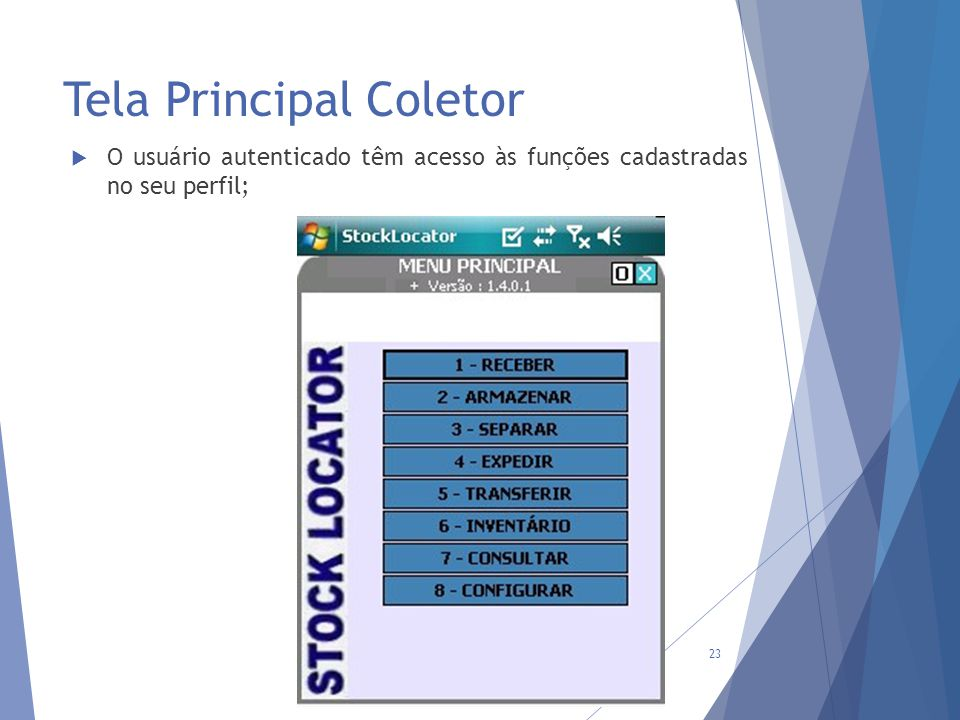 Tela Principal Coletor