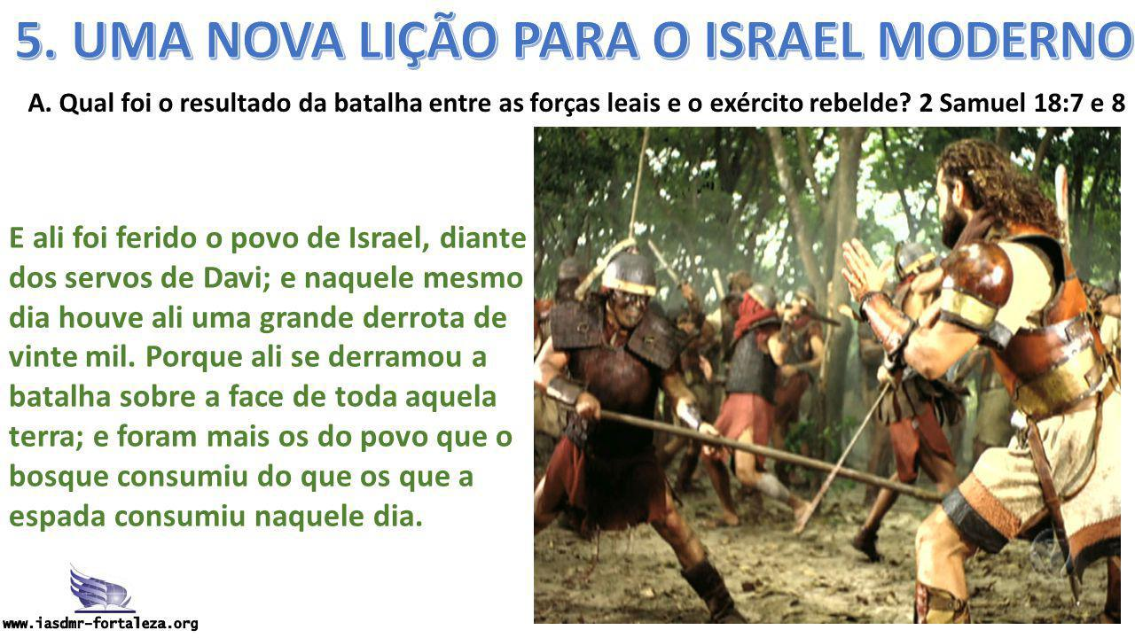 5. UMA NOVA LIÇÃO PARA O ISRAEL MODERNO