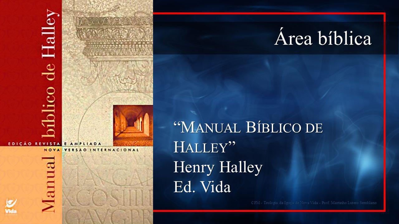 Área bíblica Manual Bíblico de Halley Henry Halley Ed. Vida