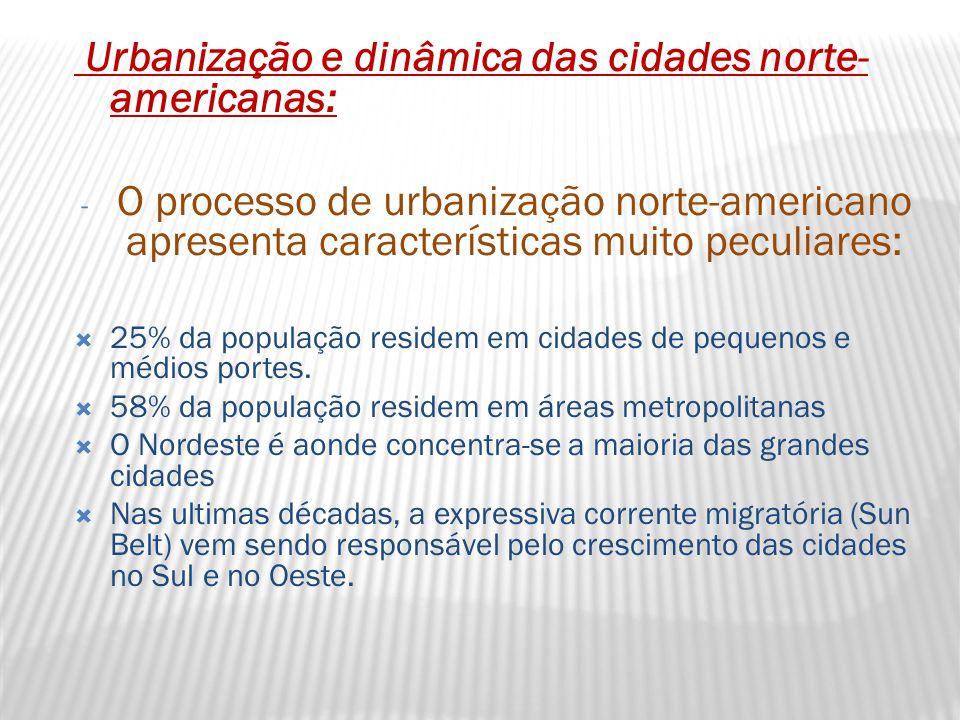 Urbanização e dinâmica das cidades norte-americanas: