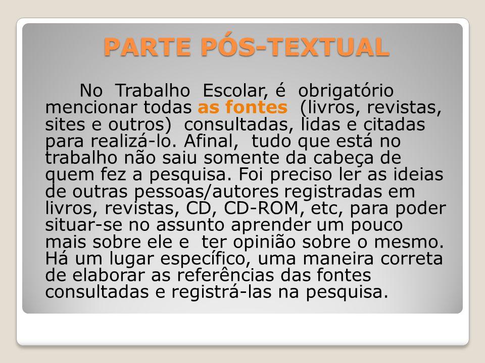 PARTE PÓS-TEXTUAL