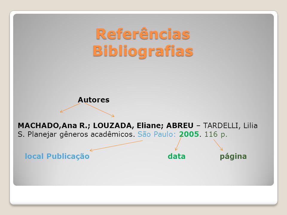 Referências Bibliografias