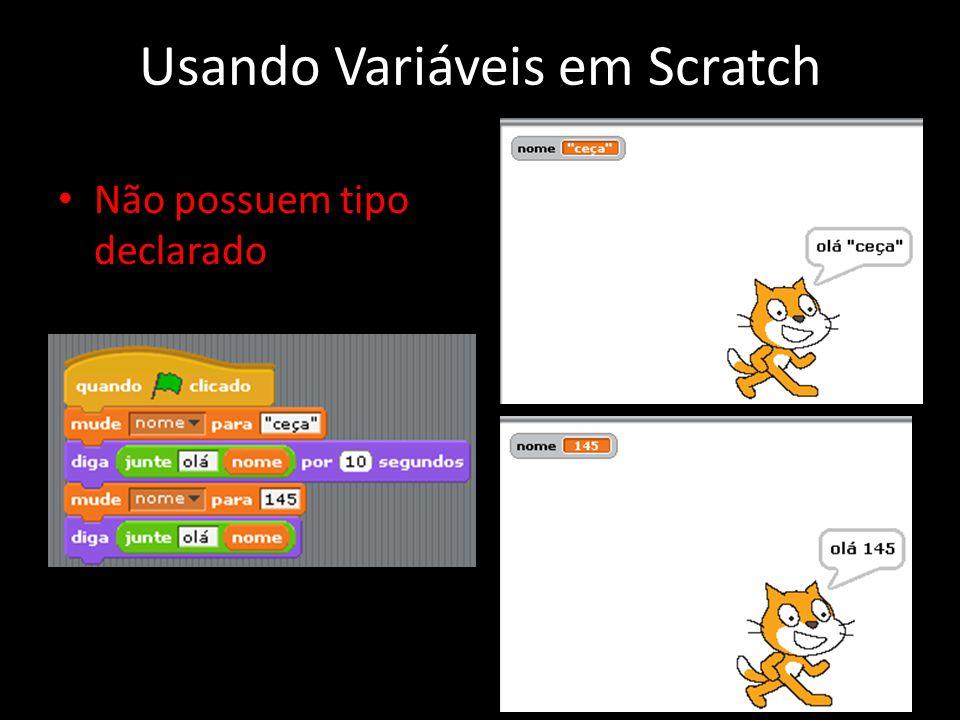 Usando Variáveis em Scratch