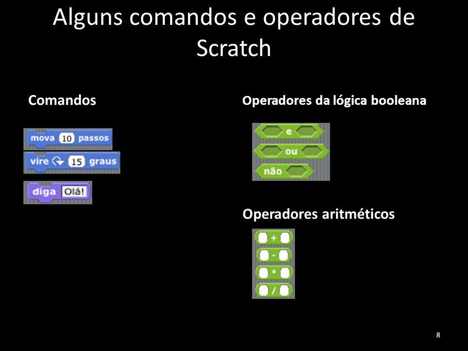 Alguns comandos e operadores de Scratch