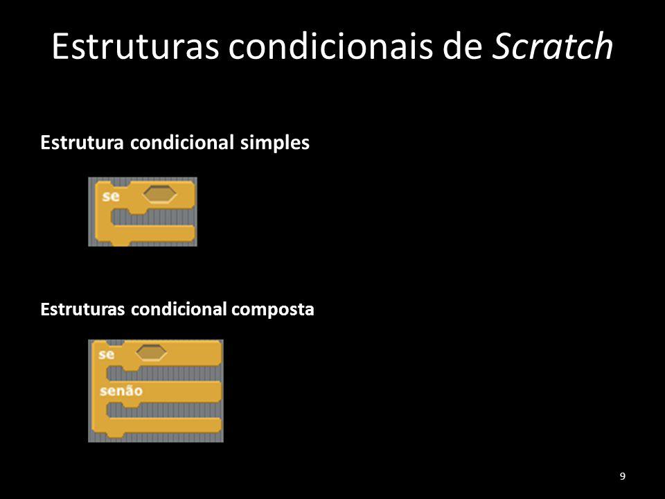 Estruturas condicionais de Scratch