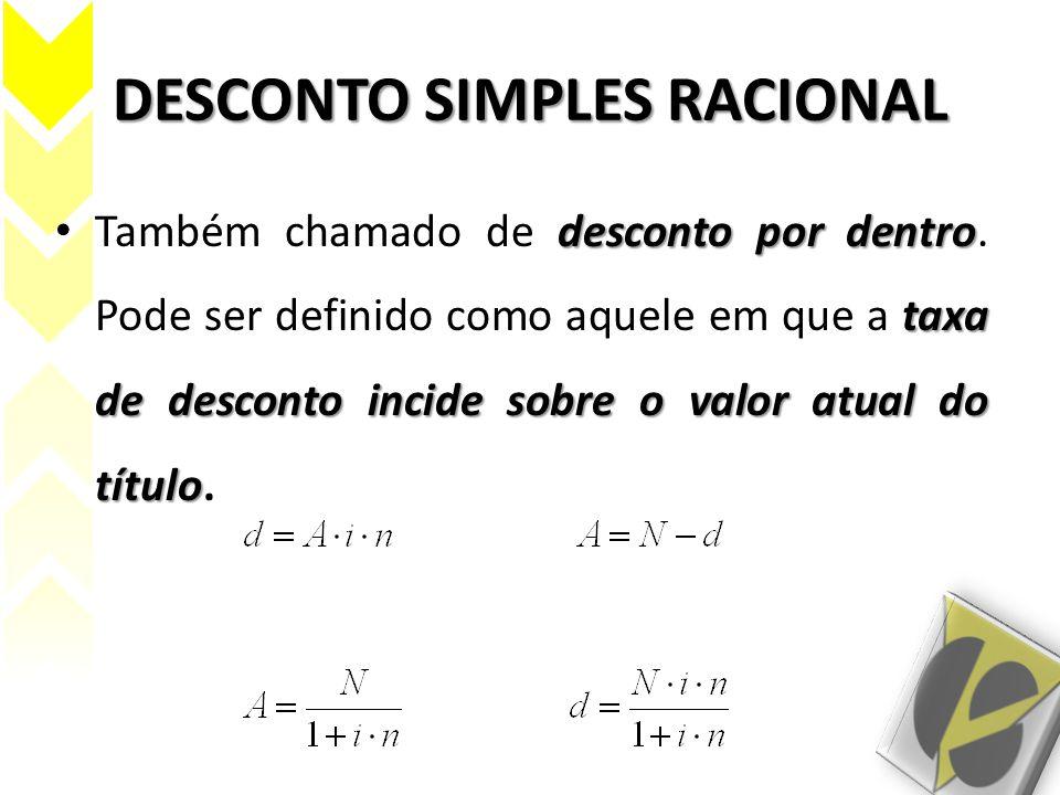 DESCONTO SIMPLES RACIONAL