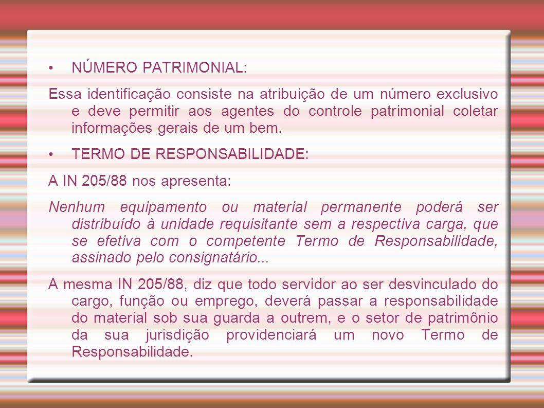 NÚMERO PATRIMONIAL:
