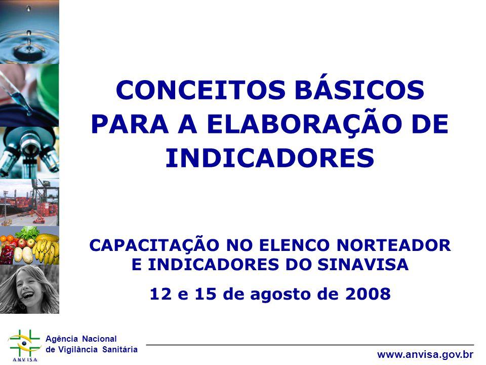 CONCEITOS BÁSICOS PARA A ELABORAÇÃO DE INDICADORES