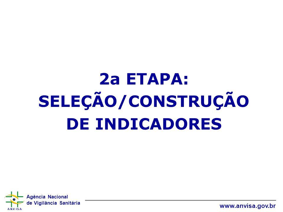 2a ETAPA: SELEÇÃO/CONSTRUÇÃO DE INDICADORES