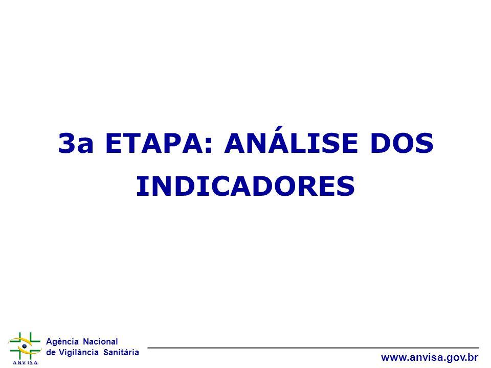 3a ETAPA: ANÁLISE DOS INDICADORES