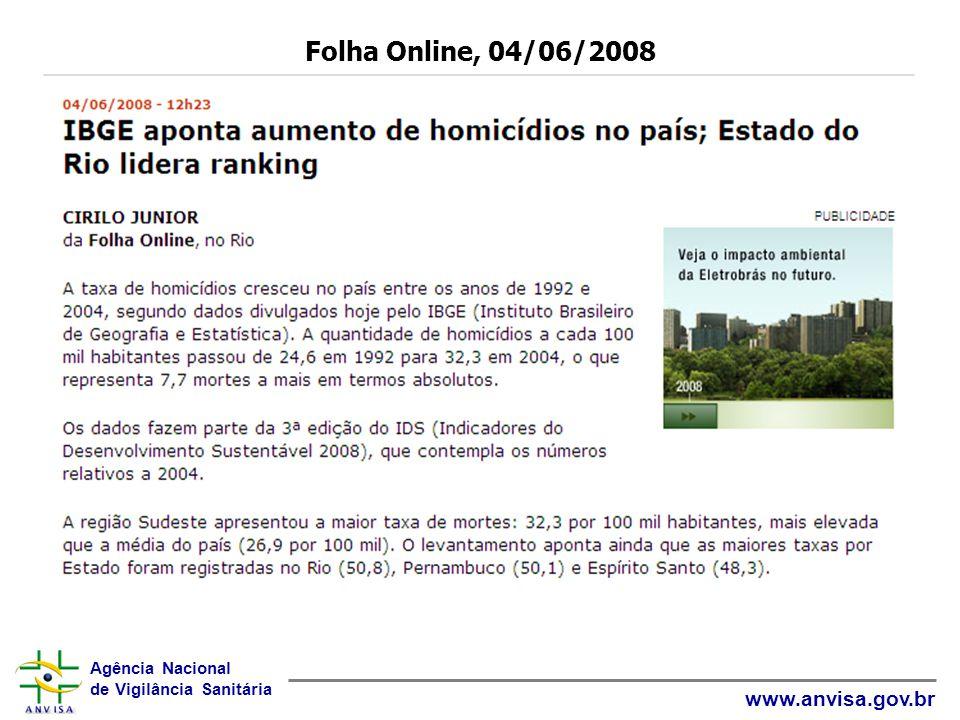 Folha Online, 04/06/2008