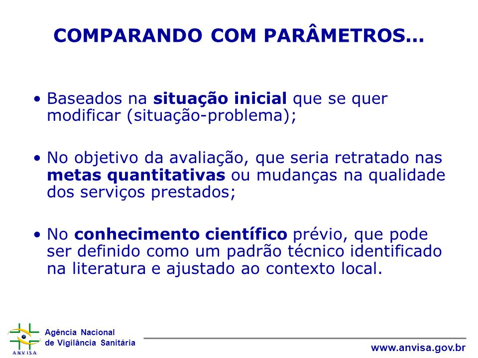 COMPARANDO COM PARÂMETROS...