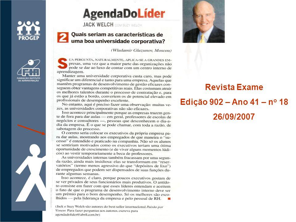 Revista Exame Edição 902 – Ano 41 – no 18 26/09/2007