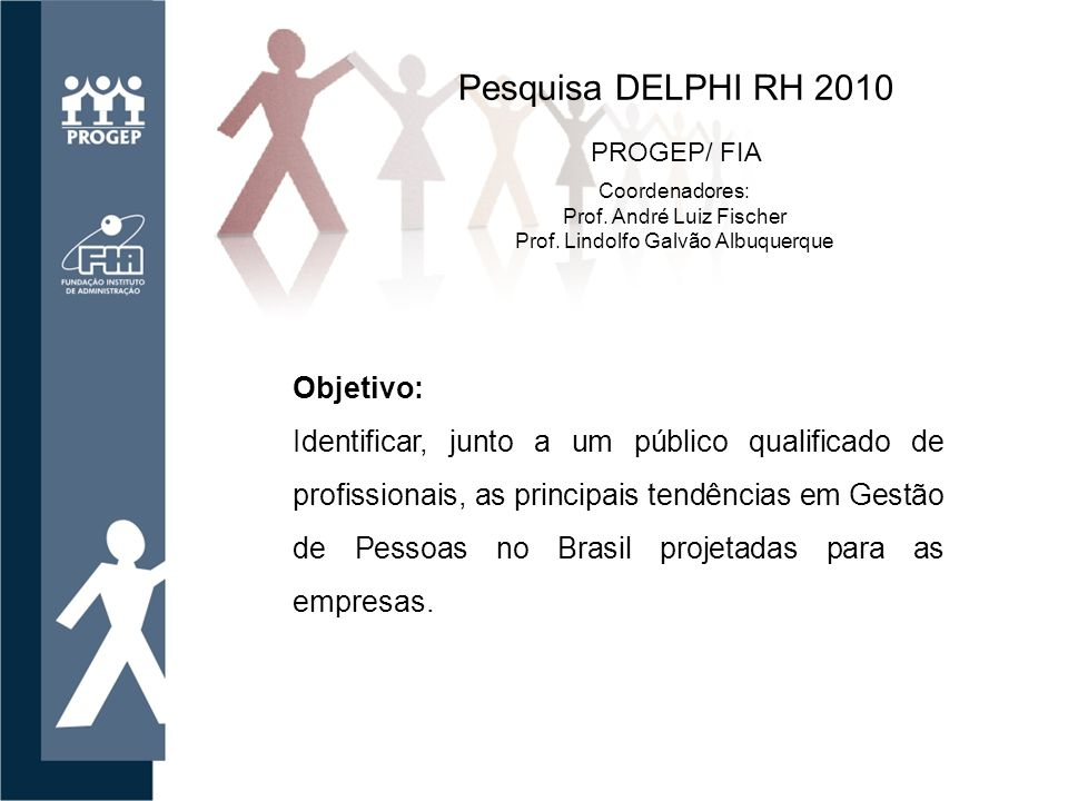 Pesquisa DELPHI RH 2010 Objetivo: