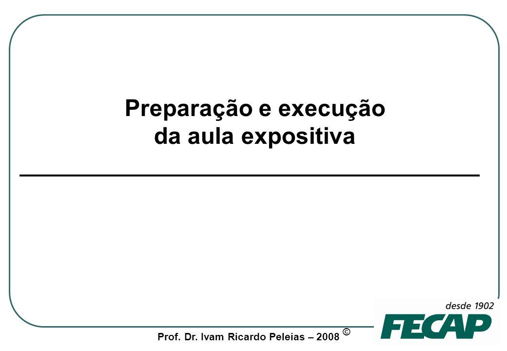 Preparação e execução da aula expositiva
