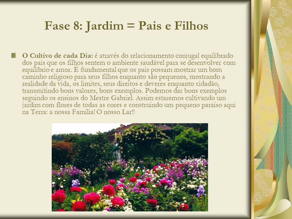 Fase 8: Jardim = Pais e Filhos